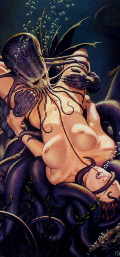 Girl Tentacle Monster Pics Monsters Tentacles Young Sey
